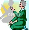 Man in Yoga Class clipart