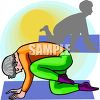 Woman in a Yoga Position clipart