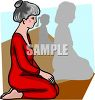 Woman in Yoga Class clipart