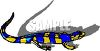 Striped Lizard with Shadow clipart