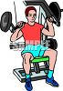 Man Using a Home Gym clipart
