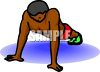Black Kid Doing Push Ups clipart