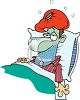 Man Sick in Bed clipart