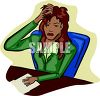 Overworked Businesswoman clipart