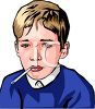 Boy with a Temperature clipart
