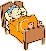 Child Sick In Bed clipart