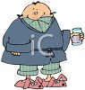 Man Wearing His Pajamas clipart