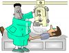 Man Getting an X-ray clipart
