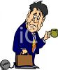 Businessman With a Ball and Chain clipart