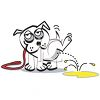 Dog Peeing clipart