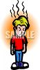 Angry Boy with Bad Temper clipart