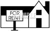 House with a For Rent Sign clipart