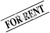 Black and White Basic For Rent Sign clipart