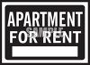Square Apartment for Rent Sign clipart