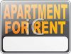 Black Apartment for Rent Sign clipart