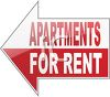 Apartments For Rent Arrow Sign clipart