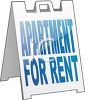 Sandwich Board Apartments for Rent Sign clipart