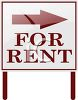 For Rent Sign with an Arrow clipart