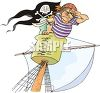 Pirate on the Look Out  clipart