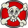 Skull and Crossbones Symbol clipart