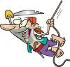 Pirate Swinging on a Rope clipart