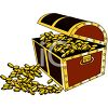 Treasure Chest Full of Gold Coins clipart