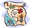 Map to Find Pirate's Treasure clipart