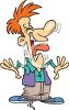Cartoon of a Man Laughing Really Hard clipart