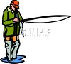 Fly Fisherman clipart