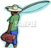 Black Boy Going Fishing clipart