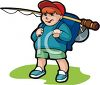 Little Boy Going Fishing clipart
