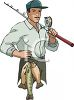 Professional Fisherman clipart