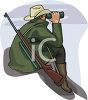 Hunter Looking Through Binoculars clipart