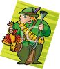 Man Hunting Quail clipart