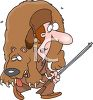Hunter Carrying a Bear clipart