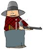 Cartoon of a Hunter clipart