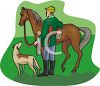 Fox Hunter clipart