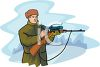 Hunter Loading His Rifle clipart