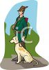 Bird Hunter and His Dog clipart