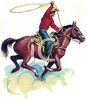Cowboy Throwing a Lariat clipart