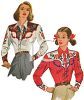 Vintage Fashion-Western Clothes for Women clipart