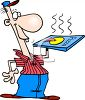 Cartoon of a Pizza Delivery Guy clipart