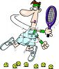 Cartoon of a Bad Tennis Player clipart