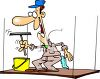 Cartoon of a Window Washer clipart