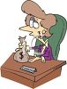 Female Loan Officer Cartoon  clipart