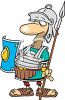 Cartoon of a Gladiator clipart