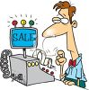 Cartoon of a Cashier clipart