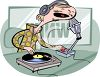 Disc Jockey on the Air clipart
