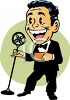 Cartoon of a Master of Ceremonies clipart