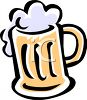 Cartoon Mug of Beer clipart